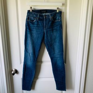 Joe's Jeans skinny ankle leg denim jean w/ raw hem